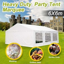 6x6m Commercial Grade Galvanised Frame Wedding Marquee Heavy Duty Party Tent