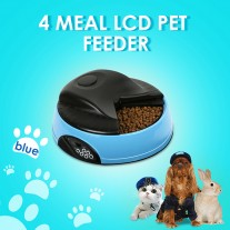 Automatic Animal Pet Feeder Auto Bowl for Dog Cat Rabbit PF-05A BLUE