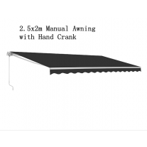 2.5x2m Outdoor Manual Folding Arm Retractable Awning Shade Deck Sun Shelter