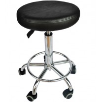 Black Salon Stool Chair Hydraulic Adjustable Barber Stool Tattoo Equipment