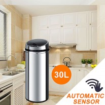 Stainless Steel Sensor Bin for Kitchen Office 30L S02-B