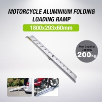 1.8M Aluminium Motorcycle Foldable Loading Ramp for QUAD ATV Motorbike Trailer