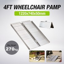 4FT Portable Aluminium Folding Wheel Chair Ramps Loading Scooter Max 270kg