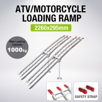 2x Aluminum Motorcycle Folding Loading Ramp Moving Quad ATV Max 1000kg 2.3M