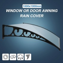 DIY Fixed Canopy Window or Door Awning Rain Cover 1.0m x 1.0m
