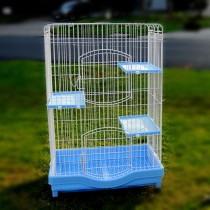 Super Large Multilevel Bird Cat Pet Cage Playpen Enclosure 81x51x125cm