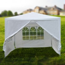 3x3m white PE easy up outdoor party market gazebo with side wall marquee canopy tent