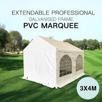 Premium 3x4M Gazebo Heavy Duty Marquee Party Tent PVC