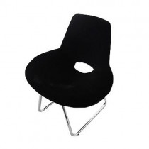 Comfortable Designer Leisure Chair Fabric Seat Black