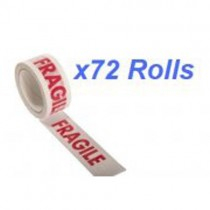 Warning Tape  Fragile  48mm x 66m 72 Rolls