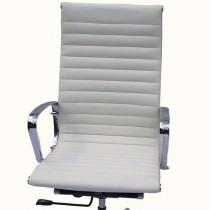 Eames High Back Executive Chair Italian Leather White