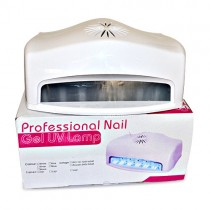 54W UV Nail Gel Dryer with Built In Fan and Timer Adjustable Curing Lamp 6 Bulbs