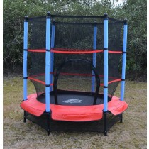 4.5FT / 55 inch Springless Mini Trampoline with Enclosure Set Red