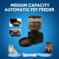 Automatic Pet Food Drink Dispenser Dog Cat Feeder Bowl Dish w/ Large Programming