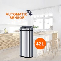 Stainless Steel Sensor Bin for Kitchen Office 42L S02-B