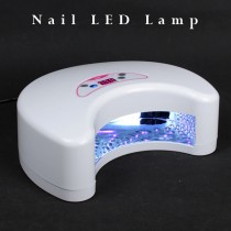 12W LED UV Nail Lamp Light Gel Curing Dryer Double Handed Manicure Timer Shellac