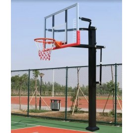 NEW 72 inch Professional In-ground Basketball System with Hoop Tempered Glass Backboard