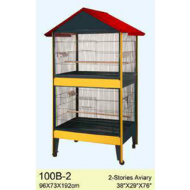 Double Stories 1.92m Roof Design Aviary Bird Cage