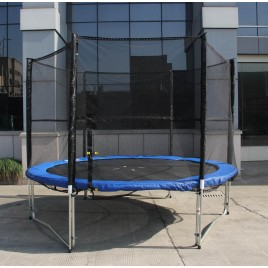 10ft Trampoline & Enclosure Set with Safety Net Ladder
