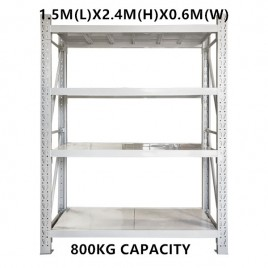 1.5m x 2.4m x 0.6m Warehouse Shelving Racking Steel Pallet Garage Shelves Metal Storage Rack