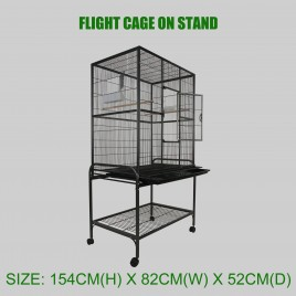 Large Flight Cage Bird Cage On Stand and Wheels