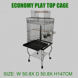 Economy Flat top Bird Cage Pet Cage Aviary Travel Stand Budgie Parrot