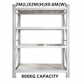 2m x 2m x 0.6m Warehouse Shelving Racking Steel Pallet Garage Shelves Metal Storage Rack