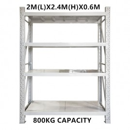 2m x 2.4m x 0.6m Warehouse Shelving Racking Steel Pallet Garage Shelves Metal Storage Rack