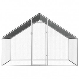 Walk-in 2X3X2M Steel Metal Chicken Coop Run Enclosure Poultry Cage