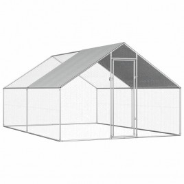 Walk-in 4X3X2M Steel Metal Chicken Coop Run Enclosure Poultry Cage