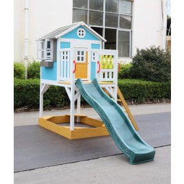 Outdoor Wooden Warrigal Kids Play Cubby House Sandpit Slide 2106