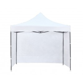 3X3M Folding Gazebo Outdoor Marquee Pop Up White 3 sided wall