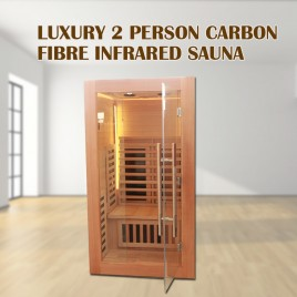 2019 Model 2 Person Luxury Carbon Fibre Infrared Sauna 7 Heating Panels 002G