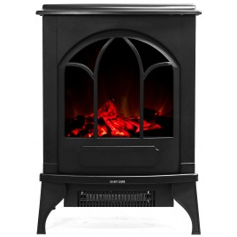 """16"""" Free Standing Electric Fireplace Heater 01"""