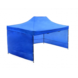3X4.5M Folding Gazebo Outdoor Marquee Pop Up Nay Blue 3 sided wall