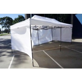 3X6M Folding Gazebo Outdoor Marquee Pop Up White 3 sided wall