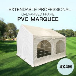 Premium Galvanized 4x4M Gazebo Heavy Duty Marquee Party Tent PVC Series