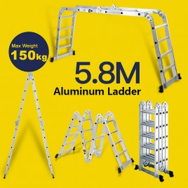 5.8M Multi Purpose Adjustable Aluminum Ladder