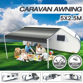 5M Caravan Roll out Awning Annex Aluminium Construction Complete Pack