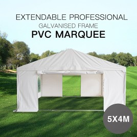 Premium Galvanized Marquee 5x4M Gazebo Heavy Duty Party Tent PVC Series
