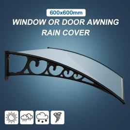 DIY Fixed Canopy Window or Door Awning Rain Cover 600cm x 600cm