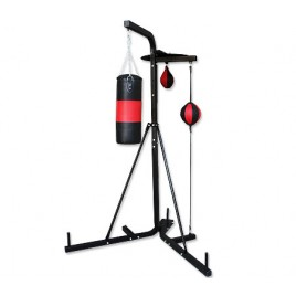 Multi Station Boxing Stand with Punching Bag Speed Ball Floor To Ceiling Ball