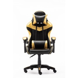 High Back Ergonomic Gaming Office Executive Racing Chair Seat - GOLD