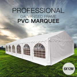 6x12m Premier Grade Galvanized Frame Marquee PVC Fabric Party Tent