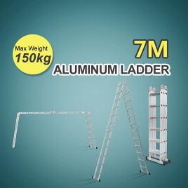 7m Folding Ladder Multipurpose Quality Aluminium Function Adjustable