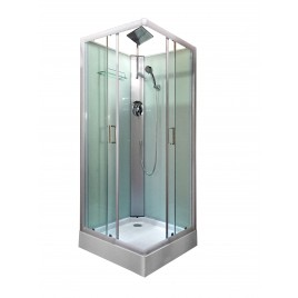 Shower Screen Cubicle Enclosure Bathroom 800x800x2300mm White 8225f