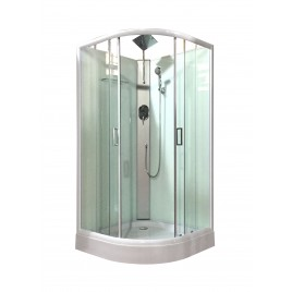 Shower Screen Cubicle Enclosure W/T Base Bathroom 900x900x2300mm White 8226A