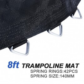 Replacement Jumping trampoline Mat for 8 Feet Trampoline with 42 pcs V-ring For L140mm spring