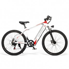 26 inch Electric e-Bike Mountain Bicycle eBike Motorised Mountain Bike 350W Motor 8Ah Battery Max 30 KPH White