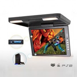 13.3 inch Flip Down Roof Monitor with Dome Light Infrared
